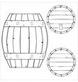 outline of wooden barrel vector image