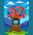valentine tree theme image 2 vector image