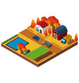 3d design for houses and farmland vector image vector image