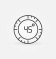 45 degree concept circular icon in outline vector image vector image