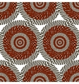 Abstract pattern of black and red stylized circles vector image vector image