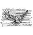 american eagle with usa flags vector image vector image