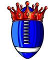 an american football ball vector image vector image