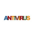 antivirus business card text modern lettering