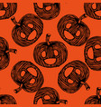 autumn pumpkin seamless are used in textile design vector image