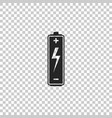 battery icon isolated on transparent background vector image vector image