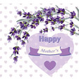 beautiful lavender card for mothers day vector image vector image
