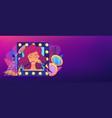 beauty salon concept banner header vector image vector image
