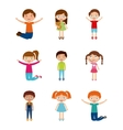 cartoon kids design vector image