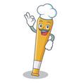 chef baseball bat character cartoon vector image