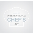 Chef day vector image vector image
