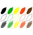 chestnut leaf color set vector image