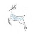 Christmas greeting with vector image