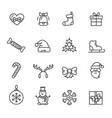 christmas theme set icons vector image vector image