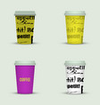 coffee cup to go creative coffee cup template vector image vector image