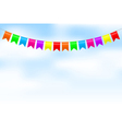 colorful bunting vector image vector image