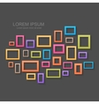 Colorful picture frames background vector image vector image