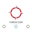 compass logo template icon design vector image vector image