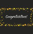 congrats congratulations banner handwritten vector image vector image