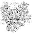 Cute birds in love doodle vector image vector image