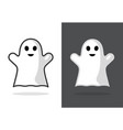 cute ghost icon halloween boo vector image vector image