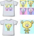 cute teddy bears on shirt vector image vector image