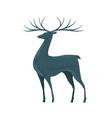 decorative deer with horns reindeer animal vector image vector image