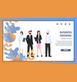 different business character job fair banner vector image