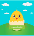 flat design icon chicken hatched from an egg vector image