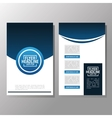 Flyer Headline design Paper icon Colorful design vector image vector image