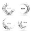 halftone circular vortex dotted circle frame set vector image vector image