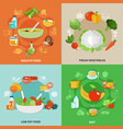 healthy eating concept vector image vector image
