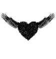 heart and angle wing vector image