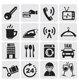 Hotel and rest icons set vector image vector image