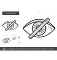 Invisible line icon vector image