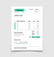 invoice form template business bill with data vector image vector image