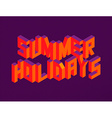 Isometric Summer Holidays quote background vector image vector image