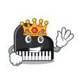 king piano mascot cartoon style vector image