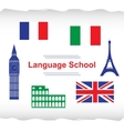 Language school poster banner vector image