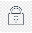 lock concept linear icon isolated on transparent vector image