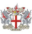 London Coat of Arms vector image
