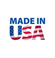 Made in the USA logo vector image vector image