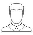 man avatar icon thin line vector image