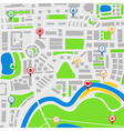 map with pointers vector image