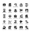 market and economy glyph icons set vector image vector image