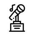 microphone equipment for singing songs icon vector image vector image
