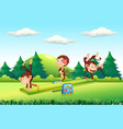 monkey at playground vector image vector image