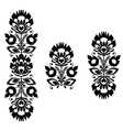 Monochrome polish folk traditional pattern stripes vector | Price: 1 Credit (USD $1)