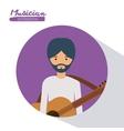 Musician man design