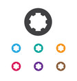 of tools symbol on gear icon vector image vector image